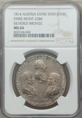"Russia, Russia: ""Austria Entry into Paris"" silvered bronze Jeton 1814 MS64NGC,..."