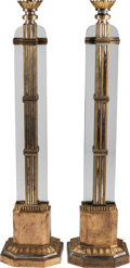 Furniture , A Pair of Art Deco Floor Lamps. 80 inches high (203.2 cm) (each). ... (Total: 2 Items)