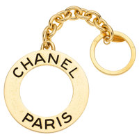 Yellow Metal Keychain, Chanel
