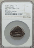 British Virgin Islands, British Virgin Islands: British Colony Countermarked 2 Shillings ND (1801) Fair 2 NGC,...