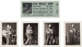 Music Memorabilia:Tickets, Elvis Presley Rare Live Photos with Reproduction Ticket (1...