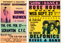 Music Memorabilia:Posters, Dionne Warwick / Delfonics - Two Vintage Concert Posters.