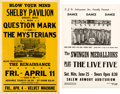 Music Memorabilia:Posters, ? and the Mysterians / the Swingin Medallions - Two Concer...