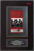 Music Memorabilia:Awards, Queen The Works Video Sal...