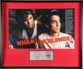 "Music Memorabilia:Awards, Wham! Make it Big In-House ""Worldwide Success"" Award.. ..."