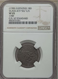 Saint Eustatius: French Colony. Louis XVIII Countermarked 2 Sous ND (1789) VF25 NGC