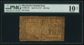 Colonial Notes:Maryland, Maryland April 10, 1774 $2/3 PMG Very Good 10 Net.. ...