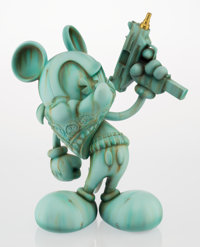 OG Slick (American, 20th century) Uzi Does It-Liberty or Death, c. 2014 Painted cast resin 16-1/2