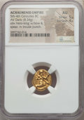 Ancients:Greek, Ancients: ACHAEMENID PERSIA. Time of Darius I to Xerxes II (485-420BC). AV daric (8.34 gm). NGC AU 5/5 - 4/5....