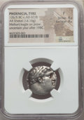 Ancients:Greek, Ancients: PHOENICIA. Tyre. Ca. 126/5 BC-AD 65. AR shekel (14.16gm). NGC Fine 4/5 - 4/5....