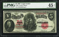 Large Size:Legal Tender Notes, Fr. 88 $5 1907 Legal Tender PMG Choice Extremely Fine 45 E...