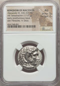 Ancients:Greek, Ancients: MACEDONIAN KINGDOM. Alexander III the Great (336-323 BC).AR tetradrachm (17.01 gm). NGC AU 5/5 - 3/5. ...