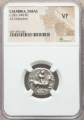 Ancients:Greek, Ancients: CALABRIA. Tarentum. Ca. 272-240 BC. AR stater ordidrachm. NGC VF....