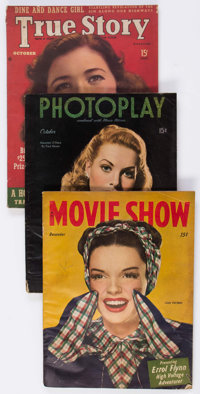 Comic and Film-Related Paper Group Long Box Lot (Various Publishers, 1890s-70s) Condition: Average FR/GD