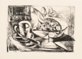 Prints & Multiples, Pablo Picasso (1881-1973). Nature morte au compotier, 1945. Lithograph on wove paper, with full margins, 2nd state (of 3...