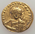 Ancients:Byzantine, Ancients: Constantine VII Porphyrogenitus (AD 913-959), withRomanus II. AV solidus (4.38 gm). Choice VF....