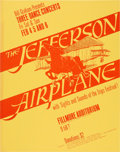 Music Memorabilia:Posters, Jefferson Airplane Fillmore Auditorium Concert Poster BG-1 (BillGraham, 1966). Very Rare....