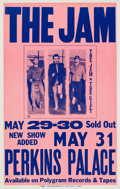 Music Memorabilia:Posters, The Jam Perkins Palace Concert Poster (1982). Very Rare....
