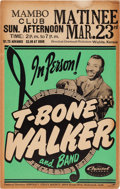 Music Memorabilia:Posters, T-Bone Walker Mambo Club Concert Poster (1952). Extremely Rare....