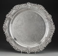 Silver & Vertu:Hollowware, A Large Dominick & Haff Silver Serving Tray with Classical Mask Motifs, New York, New York, circa 1906. Marks: (oval-circle-...