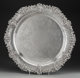 A Large Dominick & Haff Silver Serving Tray with Classical Mask Motifs, New York, New York, circa 1906 Marks: (o...