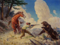 Paintings, Robert Farrington Elwell (American, 1874-1962). Standing Your Ground. Oil on canvas. 30 x 40 inches (76.2 x 101.6 cm). S...