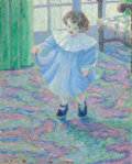 Fine Art - Painting, American, Theodore Earl Butler (American, 1861-1936). Lilly Butler(Artist's Daughter, Step-Granddaughter of Claude Monet), 1896....