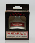 General Americana, Supreme X Starr. Staionary Bottle Opener, n.d.. Silverbottle opener. 3-1/4 x 2-3/4 inches (8.3 x 7.0 cm). Published by...