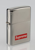 Collectible, Supreme X Zippo. Lighter (Chrome), 2015. Chrome zippo lighter with engraving. 2-1/4 x 1-1/2 inches (5.7 x 3.8 cm). Publi...