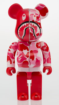 BAPE X BE@RBRICK Shark Hoddie 400% (Red), 2015 Painted cast resin 11 x 5-1/4 x 3-3/4 inches (27.9