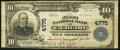 National Bank Notes:West Virginia, Ceredo, WV - $10 1902 Plain Back Fr. 628 The First NB Ch. # 4775. ...
