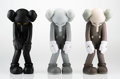 Fine Art - Sculpture, American:Contemporary (1950 to present), KAWS (American, b. 1974). Small Lie (three works), 2017.Painted cast vinyl. 11 x 4-1/2 inches (27.9 x 11.4 cm) (each). ...(Total: 3 Items)