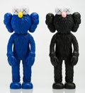 Fine Art - Sculpture, American:Contemporary (1950 to present), KAWS (American, b. 1974). BFF (Open Edition) (Black andMoMA) (two works), 2017. Painted cast vinyl (each). 13-1/2 x 5x... (Total: 2 Items)