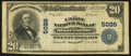 National Bank Notes:West Virginia, Sistersville, WV - $20 1902 Plain Back Fr. 658 The Union NB Ch. #5028. ...