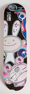 Fine Art - Work on Paper:Print, Takashi Murakami X Complex Con. Untitled, 2016. Screenprint in colors on skate deck. 32 x 8 inches (81.3 x 20.3 cm). Pub...