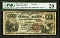 National Bank Notes:Maine, Waterville, ME - $10 1882 Brown Back Fr. 487 The Merchants NB Ch. #(N)2306. ...