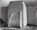 Photographs, Ansel Adams (American, 1902-1984). St. Francis Church, Ranchos de Taos, New Mexico, circa 1950. Gelatin silver, circa 19...
