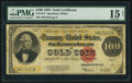 Large Size:Gold Certificates, Fr. 1215 $100 1922 Gold Certificate PMG Choice Fine 15 Net.. ...