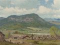 Paintings, Porfirio Salinas (American, 1910-1973). A Spring View. Oil on canvasboard. 12 x 16 inches (30.5 x 40.6 cm). Signed lower...