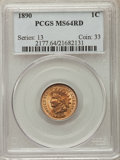 Indian Cents: , 1890 1C MS64 Red PCGS. PCGS Population: (89/63). NGC Census: (42/20). MS64. Mintage 57,182,856. ...
