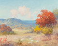 Fine Art - Painting, American, Robert William Wood (American, 1889-1979). Autumn in Texas. Oil on canvas. 16 x 20 inches (40.6 x 50.8 cm). Signed lower...