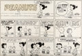Original Comic Art:Comic Strip Art, Charles Schulz Peanuts Sunday Comic Strip Lucy and Charlie Brown Original Art dated 9-20-59 (United Feature Syndic...