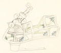 Animation Art:Production Drawing, The Wayward Canary Mickey Mouse Animation Drawing (WaltDisney, 1932). ...