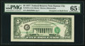 Error Notes:Third Printing on Reverse, Fr. 1974-J $5 1977 Federal Reserve Note. PMG Gem Uncirculated 65 EPQ.. ...
