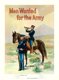"Movie Posters:War, Recruiting Poster (U.S. Army, 1910s). Poster (30"" X 41"") ""MenWanted for the Army,"" Michael P. Whelan Artwork.. ..."