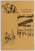 Memorabilia:Comic-Related, Frank Frazetta Burroughs Artist Frank Frazetta Portfolio(Jewel of Opar Press, 1973). ...