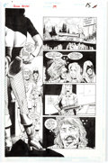 Original Comic Art:Panel Pages, Rick Hoberg and John Nyberg Green Arrow #59 Story Page 12-14Black Canary Original Art (DC, 1992)....