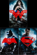 "Movie Posters:Action, Batman V Superman: Dawn of Justice (Warner Brothers, 2016). MiniPosters (3) (11.5"" X 17"") Advance Styles. Action.. ... (Total: 3Items)"