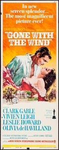 "Movie Posters:Academy Award Winners, Gone with the Wind (MGM, R-1968). Insert (14"" X 36""). Academy AwardWinners.. ..."