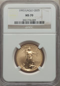 1993 $25 Half-Ounce Gold Eagle MS70 NGC....(PCGS# 9872)